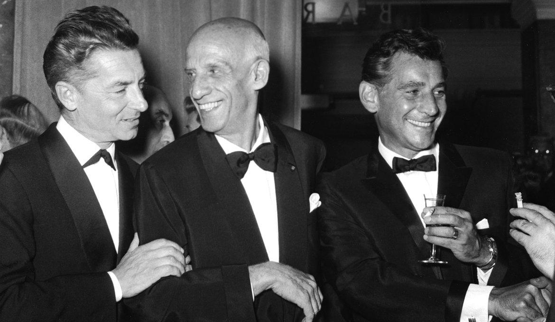 Herbert von Karajan, Mitropoulos and Bernstein, 1959