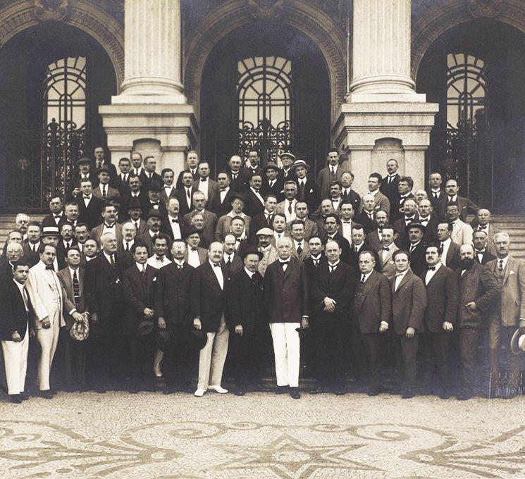 Wiener Philharmoniker mit Richard Strauss in Rio, 1923