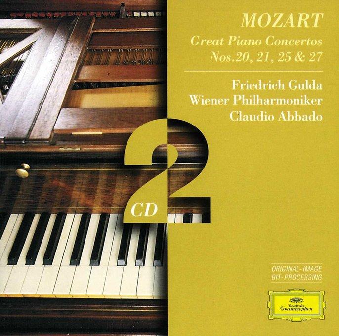 Mozart Piano Concertos 20 21 25 27 Gulda Abbado Vienna Philharmonic